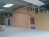 Holzständerwände und Holzbalkendecken für eine Werkhalle