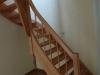 Viertel gewendelte Treppe massiv Buche